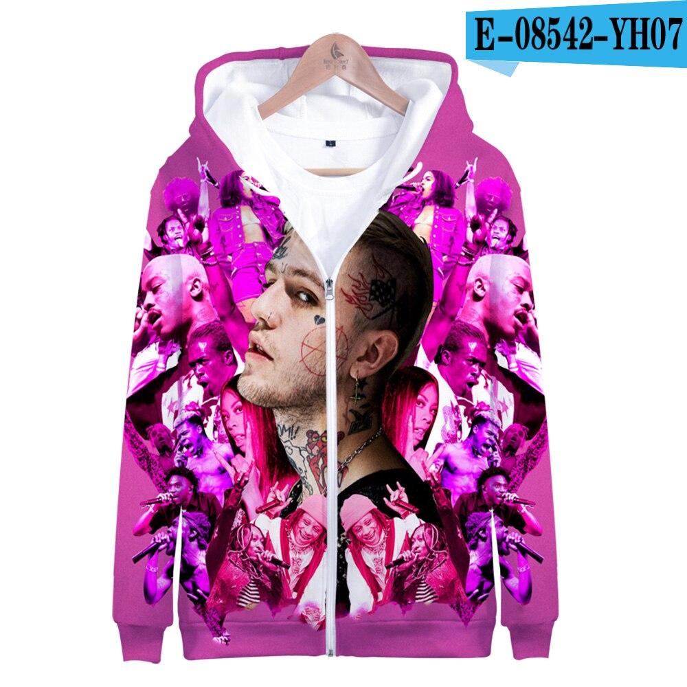 Lil Peep 3D Zip Hoodie Jacket