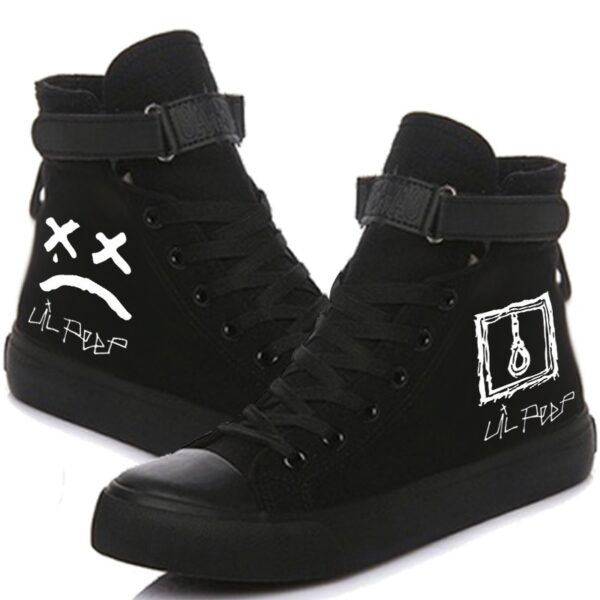Lil Peep printed Cosplay Canvas Shoes