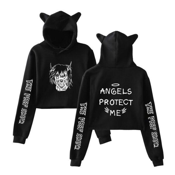 Lil Peep Angels Protect Me Cat Ears Sweatshirts Hoodies