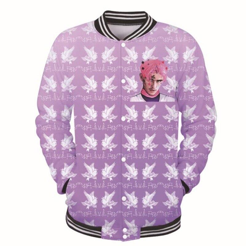 Lil Peep 3D Print Baseball Uniform Jacket