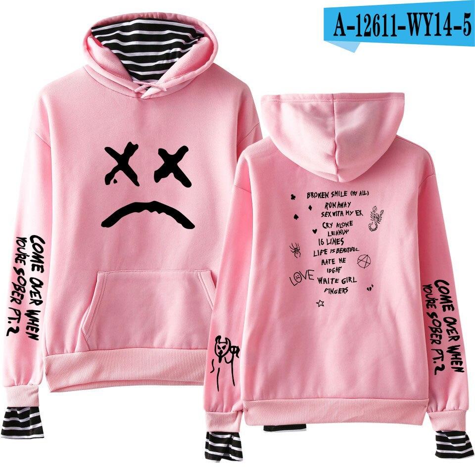 Lil Peep Print Fake Two Pieces Sweatshirts Hoodies